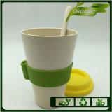 De populaire Kop van de Koffie van de Vezel van het Bamboe van de Markt van Europa met de Lepel van het Bamboe