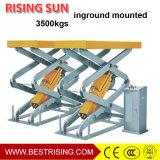 Inground monté pleine ascension table élévatrice à ciseaux