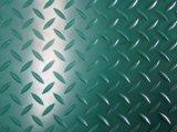 Vert diamant industriel anti-dérapant en caoutchouc Tapis de feuilles en caoutchouc des revêtements de sol
