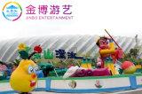 Il mini canale guida i giri del gioco dell'acqua per il parco di divertimenti