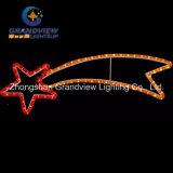 LED White Comet Christmas Motif Rope Lights com grama de PVC