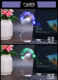 USB Mini Fan met Customized LED Flashing Text Words