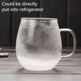 La cuvette de thé en verre de qualité principale avec le filtre personnalisent la tasse en verre de thé de logo