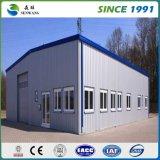 La construcción de edificios prefabricada proyecta el taller del móvil de la estructura de acero