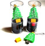 USB de Natal para presente / PVC Árvore de Natal USB / Custom Cartoon PVC USB Flash Drive