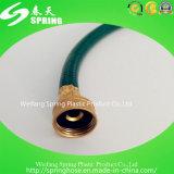 Boyau de jardin renforcé tressé par fibre flexible en plastique de conduite d'eau de PVC