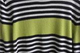 人100%Cashmereの長い袖の円形の首の編むセーター