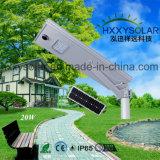 integriertes einteiliges Solarder straßenlaterne20w für Garten-Yard-Straße