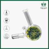 9inch säubern änderndes Farben-bewegliches Pocket Rohr Glassbong rauchendes Wasser-Glasrohr