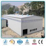 Vertiente diseñada casa prefabricada del taller del almacenaje de la estructura de acero