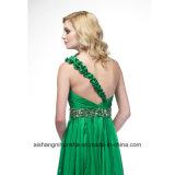 Shining платье выпускного вечера партии вечера сатинировки кристаллов Одн-Плеча