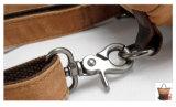 Цвет Khaki водонепроницаемым брезентом смазанной кожаные дамской сумочке поездки рюкзак (RS82051K)