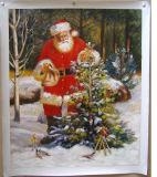 Рождественские украшения ручной работы картины маслом на холсте Санта Клауса