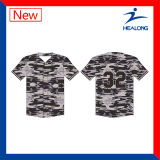 Healong 남자의 야구 셔츠를 인쇄하는 신선한 디자인 의복 기어 승화