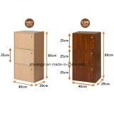 Cabina de almacenaje de madera del libro del almacenaje del uso de Ministerio del Interior de la estructura de la precipitación