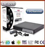 16 canaux H. 264 DVR CCTV de sécurité réseau
