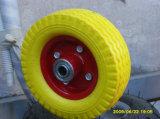 4.80/4.00-8 PU 바퀴 플라스틱 변죽 외바퀴 손수레 PU 바퀴, 편평한 자유로운 타이어
