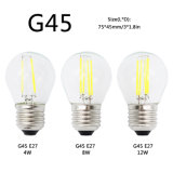 G45 Edison E27 Lâmpada E14 LED Filament Dimmable Glass Candle