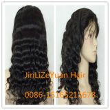 100%Human Hair Deep Wavve Full Lace Wig Auf Lager