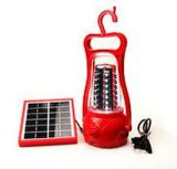 Красный аварийный фонарь освещения солнечной энергии