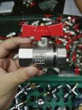 Valvola a sfera d'ottone nichelata di controllo con l'estremità più lunga (YD-1017)