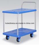 Muet chariot Double-Deck Panier Barrow Tuyau PVC Tube de flexion de la plaque