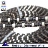 Corda revestida do diamante da borracha superior para a pedreira de pedra