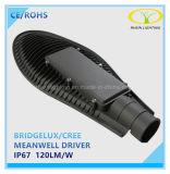 luz de rua do diodo emissor de luz de 50W Bridgelux IP67 com excitador de Meanwell