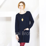 Sweater van het Kasjmier van de Hals van vrouwen de Ronde (16brss113)