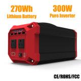 270W 300W 휴대용 리튬 배터리 태양 광 발전기 (Ce / RoHS / FCC 포함)