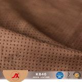 Do couro sintético clássico material do sofá do projeto do couro da alta qualidade da venda por atacado do fornecedor de China couro perfurado do PVC