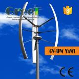 turbina de vento vertical da linha central 3kw usada para a HOME