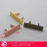 Cartas de metal pequeno personalizado para sacos, logotipos de metal de qualidade