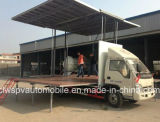 확장 가능한 단계를 가진 Forland 작은 옥외 LED 실행 트럭
