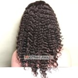 peluca llena del cordón de la onda profunda del pelo humano 100%Virgin