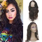 Hot beauté des cheveux 360 dentelle avec faisceaux frontale