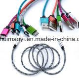 Câble de caractéristiques de remplissage rapide de câble usb en nylon pour l'androïde