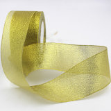 Aussondern/zweiseitiges Polyester-gedrucktes/normales Organza-/Grosgrain-/Satin-Farbband für Geschenke 7013