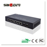 Link de 100 Mbps 2FX+6FE portas Switch Fast Ethernet Media Converter