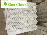 Мрамор Carrara белый хонинговал части мозаики мрамора плитки мозаики шестиугольника 2 дюймов