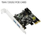 Tian 720202 Spaander 2 de Kaart Pcie van de Haven USB3.0 met de Lage Steun van het Profiel, de Kaart van de Vergroting