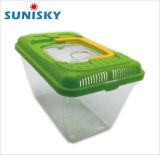 Transparente de plástico de alta portabilidade Caixa PET