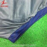 Camicia di polo asciutta del tessuto di misura del poliestere pieno degli abiti sportivi di Healong per Teamwear