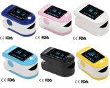 Ocilímetro de pulso de dedo com sensor de SpO2 com certificação CE e FDA