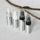Garrafa de alumínio pequeno para embalagem de amostra de perfume cosmético (PPC-ACB-052)