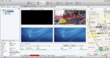 Unidad de disco duro de 1080p 4CH Mobile Dvr H. 264 Sistema de solución de monitorización de alarma de coche