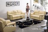 Jogo amarelo do sofá do Recliner do couro do projeto moderno da cor