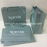 Bolsa de papel certificada Fsc de embalaje del regalo de la impresión con insignia de encargo