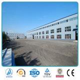 Edificio prefabricado ligero del almacén de la estructura de acero del palmo grande