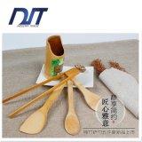 Logotipo feito sob encomenda Eco amigável nenhum jogo de cozimento de bambu da colher da pintura